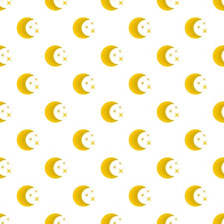 Moon night pattern seamless in flat style for any design