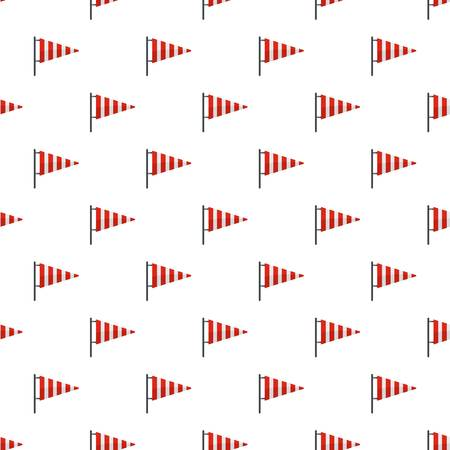 Meteorology windsock pattern seamless in flat style for any design