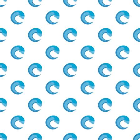Wave aqua pattern seamless in flat style for any design  イラスト・ベクター素材