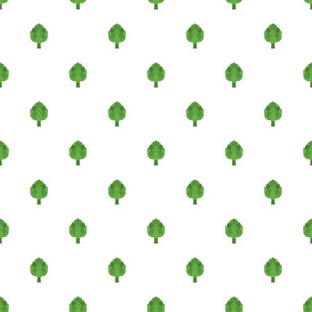 Artichoke pattern seamless in flat style for any design