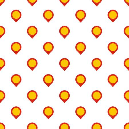 Reminder pin pattern seamless in flat style for any design
