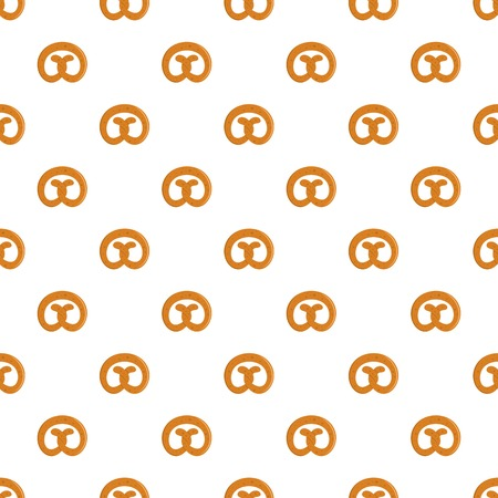 Pretzel pattern seamless in flat style for any design