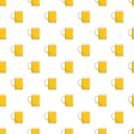 Pint of beer pattern seamless in flat style for any design Illustration