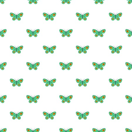 Unknown butterfly pattern seamless in flat style for any design Illustration