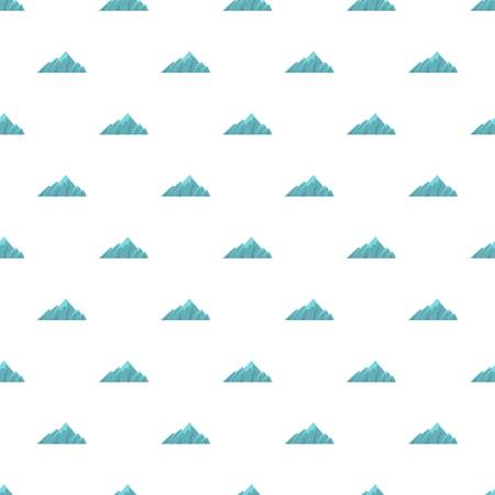 Alpine mountain pattern seamless in flat style for any design