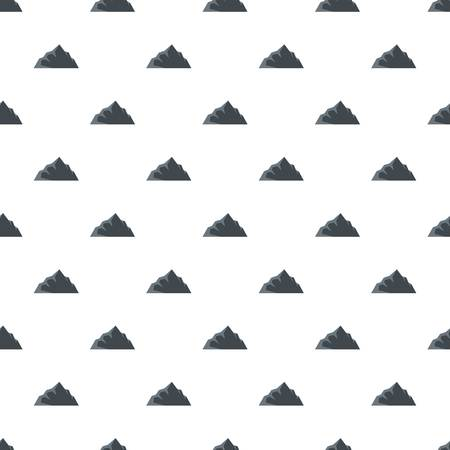 Exploration of mountain pattern seamless in flat style for any design