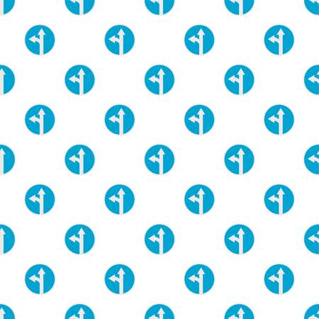 Turn arrow pattern seamless in flat style for any design