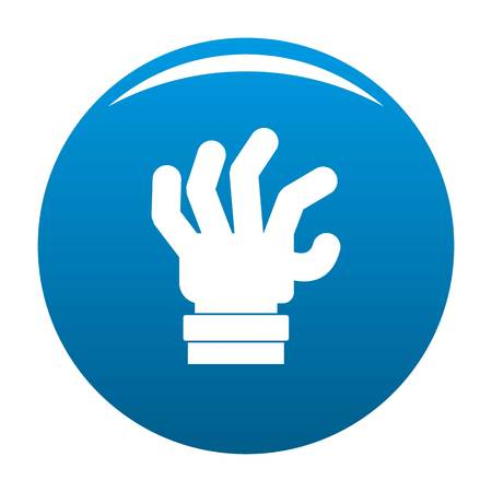 Hand fear icon vector blue circle isolated on white background Illustration