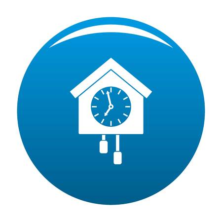 Clock creative icon vector blue circle isolated on white background