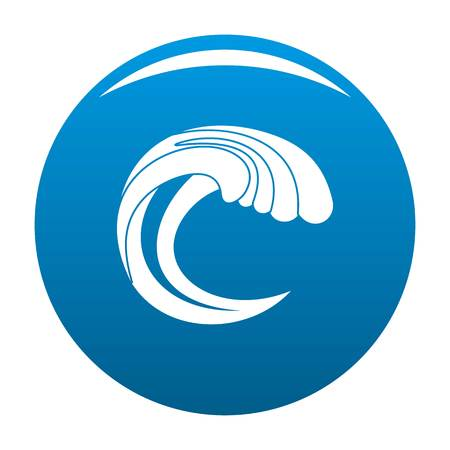 Wave water nature icon vector blue circle isolated on white background
