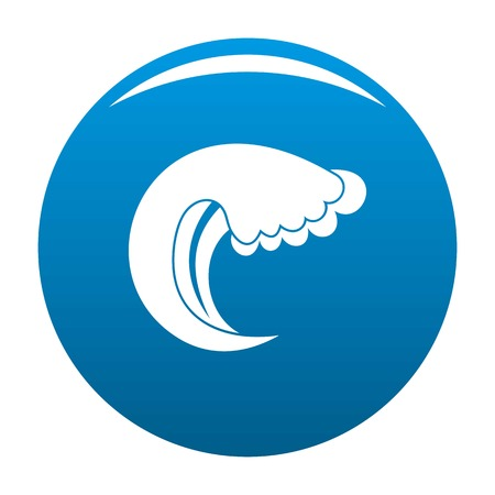 Wave water summer icon vector blue circle isolated on white background