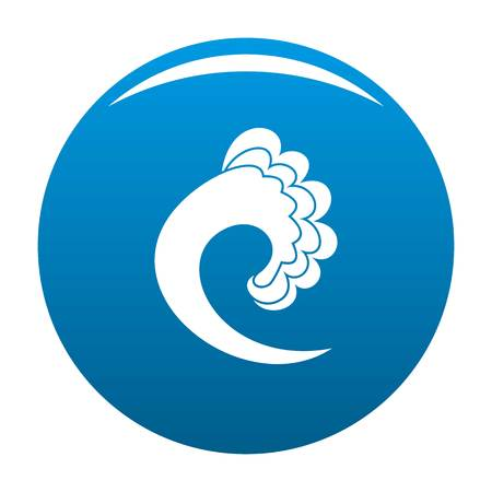 Wave ocean icon vector blue circle isolated on white background  Illustration