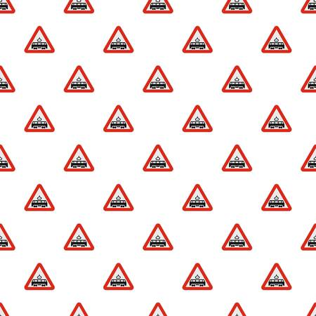 Railroad crossing pattern seamless in flat style for any design