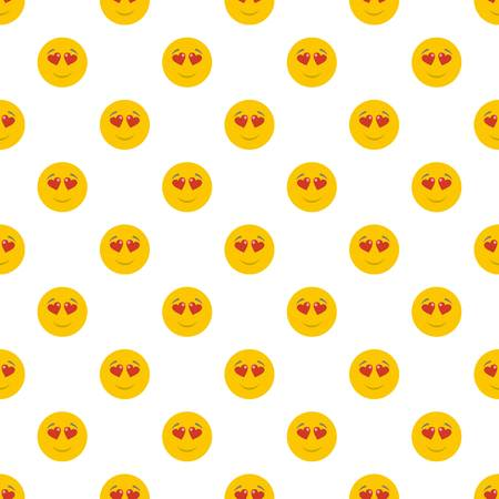 Love smile pattern seamless in flat style for any design