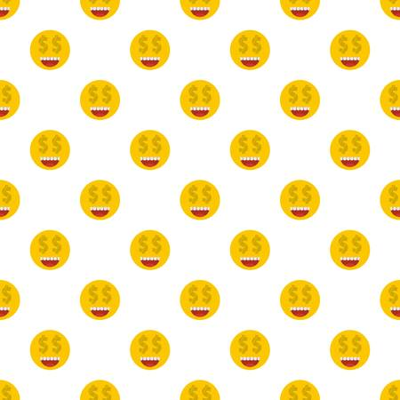 Money smile pattern seamless in flat style for any design