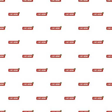 Live news pattern seamless in flat style for any design