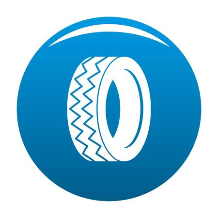 Round tire icon vector blue circle isolated on white background