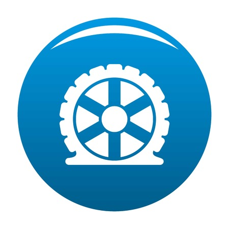 Auto tire icon vector blue circle isolated on white background  Illustration