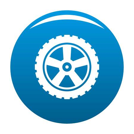 Transport tire icon vector blue circle isolated on white background