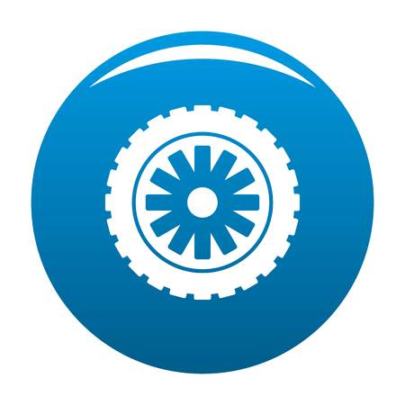Rubber protector icon vector blue circle isolated on white background
