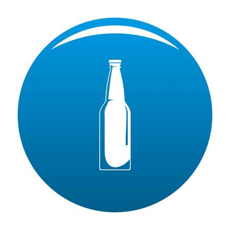 Closed bottle icon vector blue circle isolated on white background