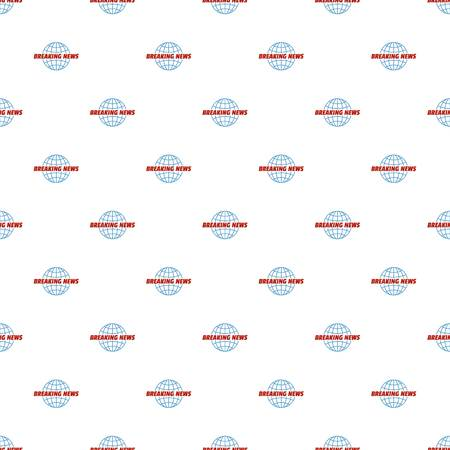 Live news of planet pattern seamless in flat style for any design