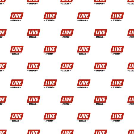 Hot live stream pattern seamless in flat style for any design
