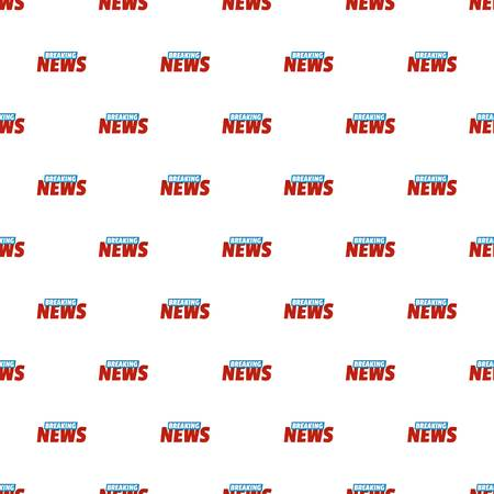 Breaking live news pattern seamless in flat style for any design Illustration