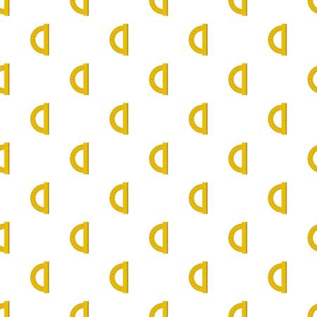 Yellow protractor pattern seamless in flat style for any design Illustration