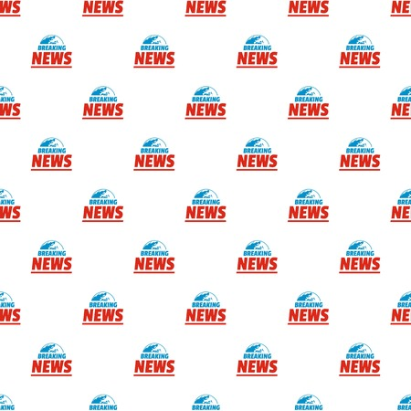 Announcement of breaking news pattern seamless in flat style for any design.