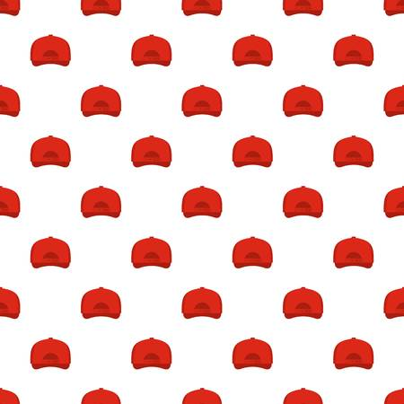 Baseball cap back pattern seamless in flat style for any design.