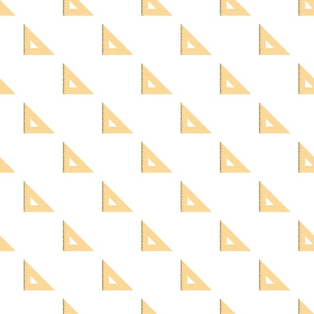Triangular ruler pattern seamless in flat style for any design