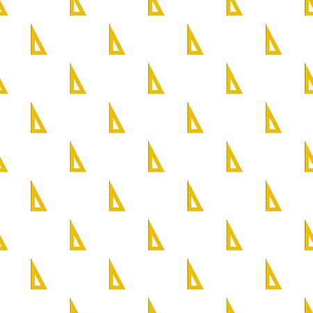 Yellow geometric ruler pattern seamless in flat style for any design.