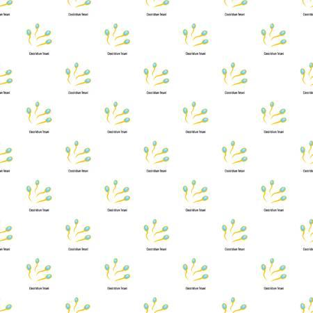 Clostridium tetani pattern seamless in flat style for any design