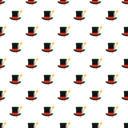 Hat with wand pattern seamless in flat style for any design. Illustration