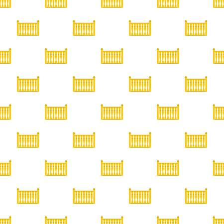 Fence with column pattern seamless in flat style for any design Illustration