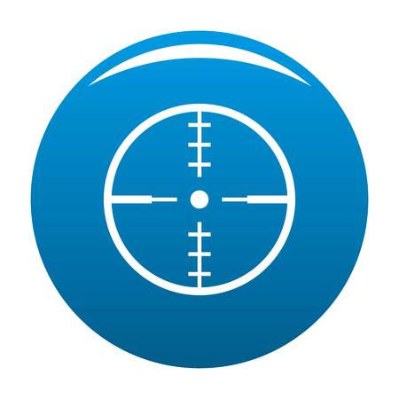 Thing radar icon vector blue circle isolated on white background   イラスト・ベクター素材
