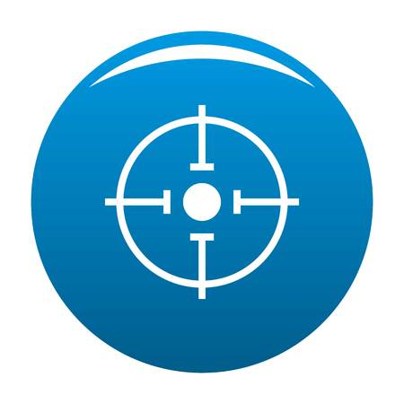 Important target icon vector blue circle isolated on white background  Illustration