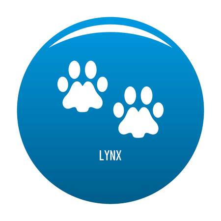 Lynx step icon vector blue circle isolated on white background