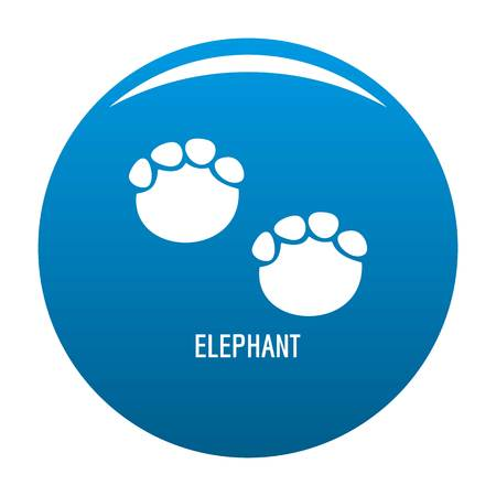 Elephant step icon vector blue circle isolated on white background Illustration
