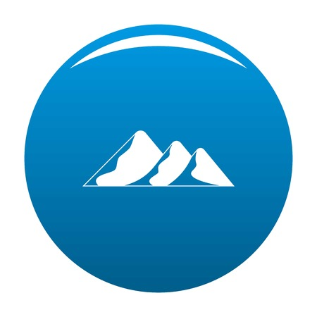 Travel to mountain icon vector blue circle isolated on white background