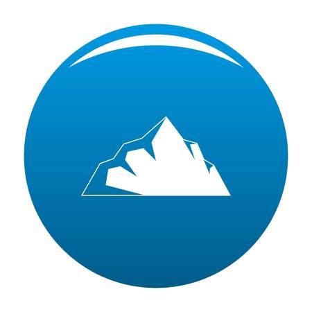 Exploration of mountain icon vector blue circle isolated on white background  Illustration