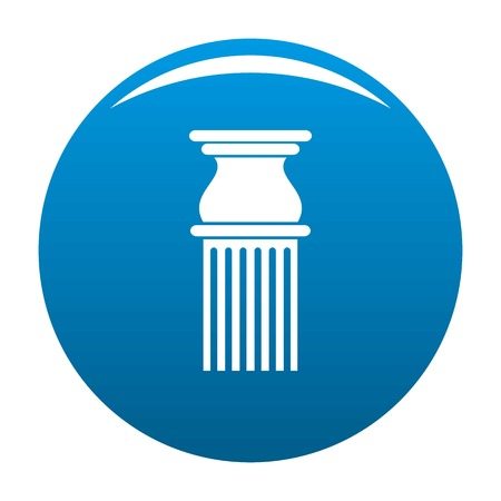 Classical column icon vector blue circle isolated on white background  Illustration