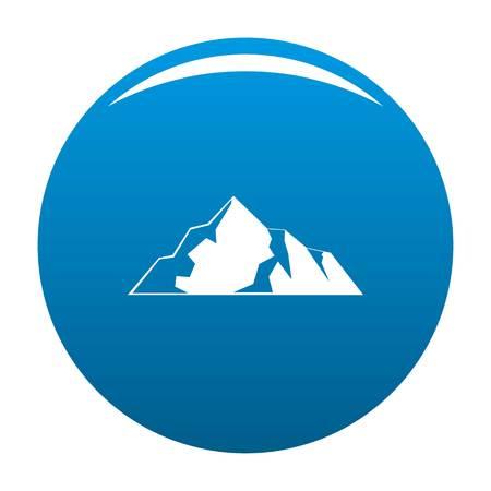 얼음 산 아이콘 벡터 파란색 원 흰색 배경에 고립 스톡 콘텐츠 - 95012310