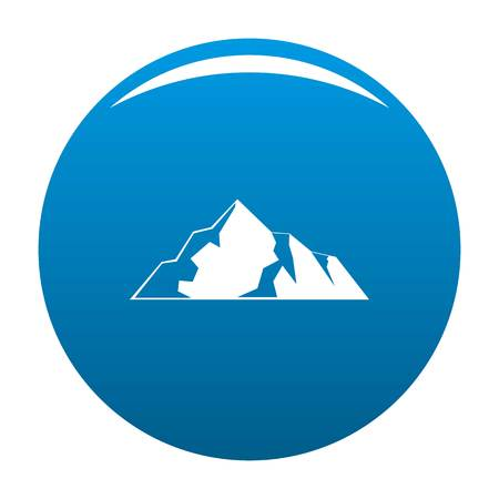 Ice mountain icon vector blue circle isolated on white background
