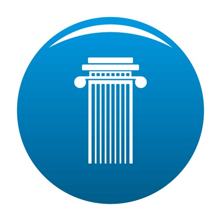 Cylindrical column icon vector blue circle isolated on white background