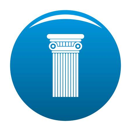 Architectural column icon vector blue circle isolated on white background