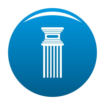 Antique column icon vector blue circle isolated on white background  Illustration