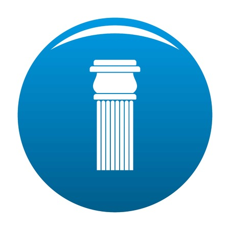 Stone column icon vector blue circle isolated on white background