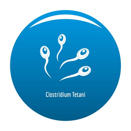Clostridium tetani icon vector blue circle isolated on white background